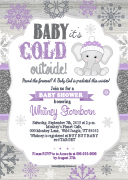 Winter Elephant Baby Shower