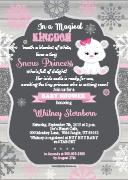 Snow Winter Princess Baby Shower Invitation