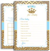 Royal Blue Prince Printable Files for Shower