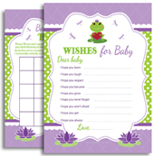 Purple Green Frog Girl Digital Shower