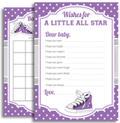 Purple Grey Sneakers Shoe Mvp girl shower