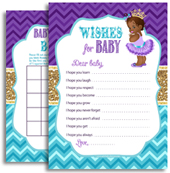 Purple Gold and Teal Royal African Princess Baby Shower