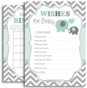 Mint Grey Boy Elephant Shower digital files