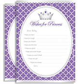 Purple Lavender Grey Silver Crown Princess Shower