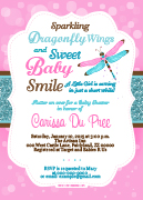 Butterfly Dragonflyand Bugs Invitations