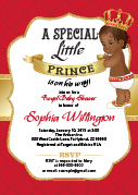 Printable Invitation with African Prince Red and Gold